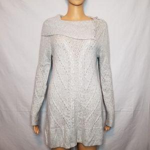 White House Black Market Cowel Neck Button Sweater